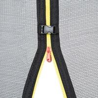 Tectake Garfunky 366 cm inkl. Sicherheitsnetz und Leiter schwarz/blau