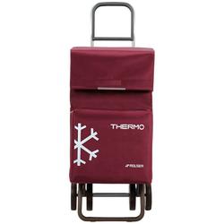 Rolser Einkaufstrolley Dos+2 Thermo Fresh, 54 l, mit Thermofach, 4 Rollen rot