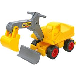 WADER QUALITY TOYS Spielzeug-Aufsitzbagger Megabagger (Sitzbagger)