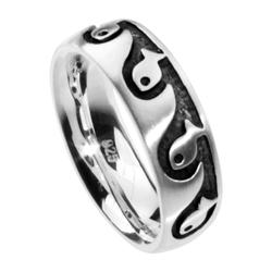 Ring - Fisch - Silber 925/000 - , OSTSEE-SCHMUCK silber
