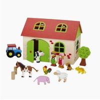GoKi Spiel-Gebäude Bauernhof mit Spielfiguren