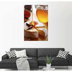 Posterlounge Wandbild, Brie-Käse und Feigen mit Honig 100 cm x 150 cm