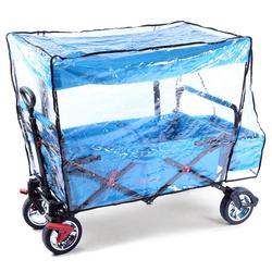 Regenschutz transparent für Bollerwagen JW76C