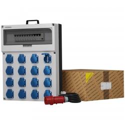Stromverteiler GR-S/FI 16x230V Kabel 5x4mm2 Doktorvolt® 0625