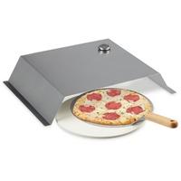 Relaxdays Pizzaaufsatz, Pizzastein & Schieber silber