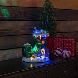 LED Weihnachtsstiefel Dekoleuchte mit Musik batteriebetrieben