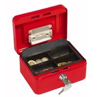 Wedo Geldkassette 15,2x11,5x8,0cm mit Clip rot
