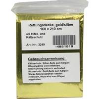 CareLiv KFZ-Rettungsdecke 160 x 210 cm silber/gold