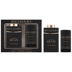 Bvlgari Man In Black Geschenkset  EDP 100 ml + 100 ml Aftershave Balm + Tasche