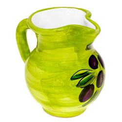 Lashuma Milchkännchen Olive, 0.2 l, Italienisches Kaffeekännchen, Sahnekrug bemalt 0.2 l - Ø 4 cm x 9 cm
