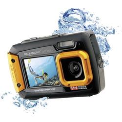 Easypix W-1400 Digitalkamera 14 Megapixel Schwarz, Orange Staubgeschützt, Unterwasserkamera, Frontd