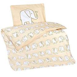 aminata Bettwasche Elefant Beige 100 x 135 cm 100% Baumwolle