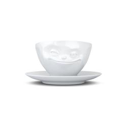 FIFTYEIGHT PRODUCTS Tasse Tasse Grinsend weiß 200 ml