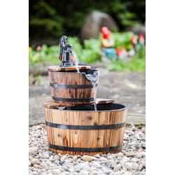Heissner Gartenbrunnen Wooden Barrel, 45 cm Breite, (Set)