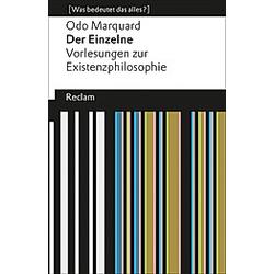 Der Einzelne. Odo Marquard  - Buch