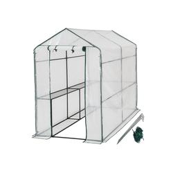 tectake Gewächshaus Gewächshaus mit Plane, UV stabilisierte PVC Folie
