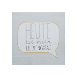 """Räder Design Papierserviette DINING COCKTAILSERVIETTEN """"LIEBLINGSTAG"""""""