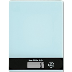 KESPER for kitchen & home Küchenwaage, mit LCD-Display, bis 5 kg blau