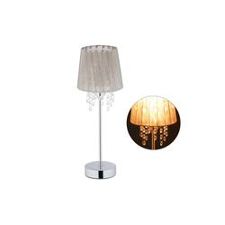 relaxdays Tischleuchte Tischlampe Organza Kristall