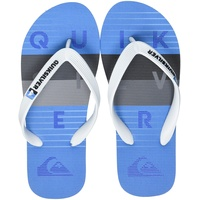 QUIKSILVER Molokai Word Block Youth Flip-Flop, White/Grey/Blue, 33 EU