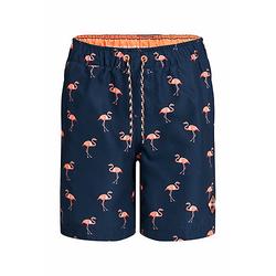 Jungen-Badehose mit Flamingo-Muster Shorts TeenM blau Gr. 134/140 Jungen Kinder
