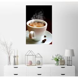 Posterlounge Wandbild, Tasse heißer Kaffee 60 cm x 90 cm