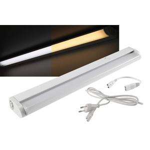 LED Unterbauleuchte Schrankleuchte 36cm 340 Lumen 4Watt I 2700K + 4000K Schaltbar I Lichtleiste Neigbar I Warmweiß + Neutralweiß I Gehäuse Weiß