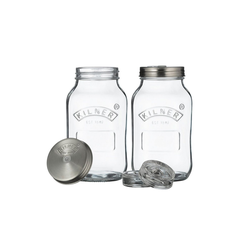 KILNER Einmachglas Kilner Fermentationsgläser Set, Glas