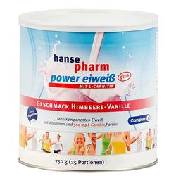 HANSEPHARM Power Eiweiß plus Himbeere-Vanille Plv. 750 g