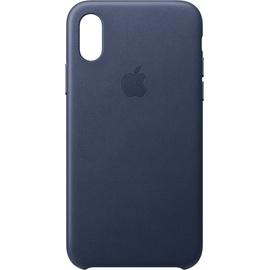 Apple iPhone XS Leder Case mitternachtsblau