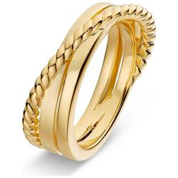 JETTE Fingerring JETTE Damen-Damenring 925er Silber gelb 57