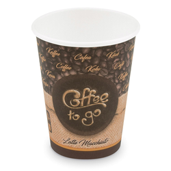 Kaffeebecher L 'Coffee To Go' Latte Macchiato, Melange 350ml 420ml,  50 Stk.