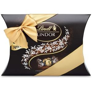 Lindt LINDOR Kissenpackung Extra Dunkel 70% Kakao, Schokoladengeschenk, ca. 25 LINDOR Kugeln, 322g