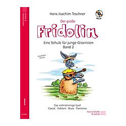 Der große Fridolin  für Gitarre  m. Audio-CD. Hans J. Teschner  - Buch