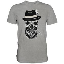 weargo T-Shirt Hipster Skull Totenkopf mit Gasmaske XXL