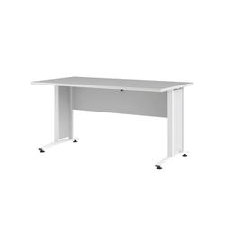 ebuy24 Schreibtisch Prisme Schreibtisch Breite 150 cm weiss.