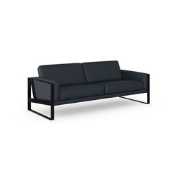 machalke® 3-Sitzer frame, Ledersofa mit Kufe in Schwarz blau