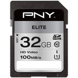 PNY ELITE SD Flash Speicherkarte (16 GB, Class 10, 100 MB/s Lesegeschwindigkeit)