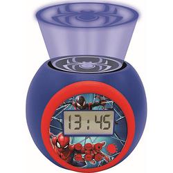 Spider-Man Wecker mit Projektion blau/rot