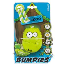 Coockoo Hundespielzeug Bumpies mit Seil Apfel, Maße: 8,5 x 6,8 x 5,8 cm