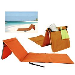 dynamic24 Strandtuch, Strandmatte Strandstuhl Rückenlehne Matte Strand Liege Lehne Gartenliege Stuhl orange