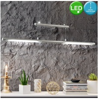 Eglo LED Design Pendel Leuchte höhenverstellbar Wohn Zimmer Beleuchtung ALU Decken Hänge Lampe Eglo 97062