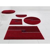 GRUND exklusiv Badematte Crystal Touch GRUND exklusiv, Höhe 17 mm, rutschhemmend beschichtet, rot Gemusterte Badematten