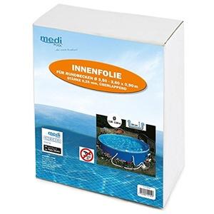 Medipool - Poolfolie rund 3,5 bis 3,60 x 0,92 m x 0,25 mm Schwimmbadfolie