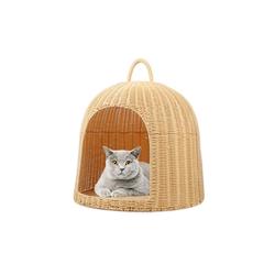 wuuhoo Tierkorb aus Polyrattan I gemütliches Zuhause, für Katzen und Hunde
