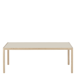 Workshop Tisch 200 x 92 cm Warm Grey/Eiche  Muuto