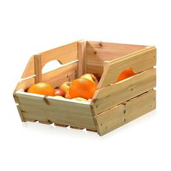 Mucola Kartoffelkiste Obstkiste mit Griffen Apfelkisten Holzkisten Weinkisten Holz Kartoffelkiste