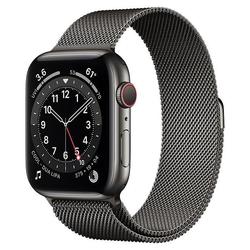 Apple Watch Series 6 Edelstahl 44mm Cellular  Smartwatch,  für iOS,  44 mm Ge... (Smartwatch)