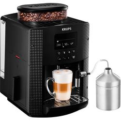 Krups Kaffeevollautomat EA8160, 1,8l Tank, Kegelmahlwerk, Kaffeevollautomat, 462812-0 schwarz schwarz