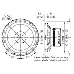 Kenwood Multiroom-Lautsprecher (Kenwood KFC-S1756 - 16cm Koax Lautsprecher)